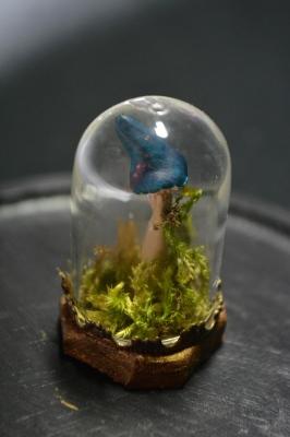 Minature Bell Jar - toadstool (DarkBlue)