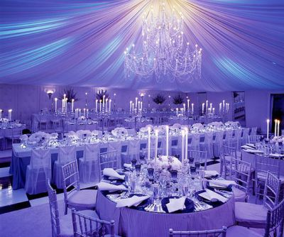an example of the effect lighting can have on your venue and your event