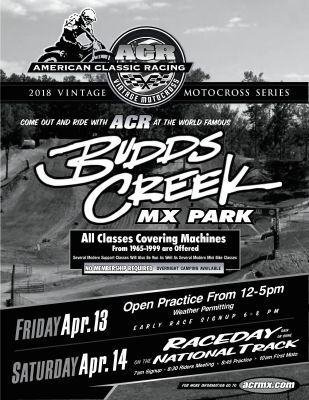 ACR 2018 Round 1 - Budds Creek!