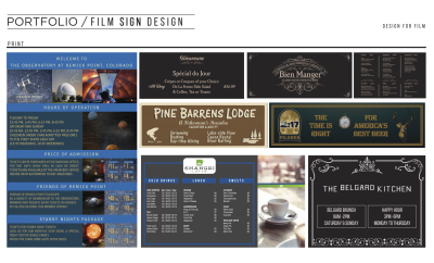 Film Sign Design