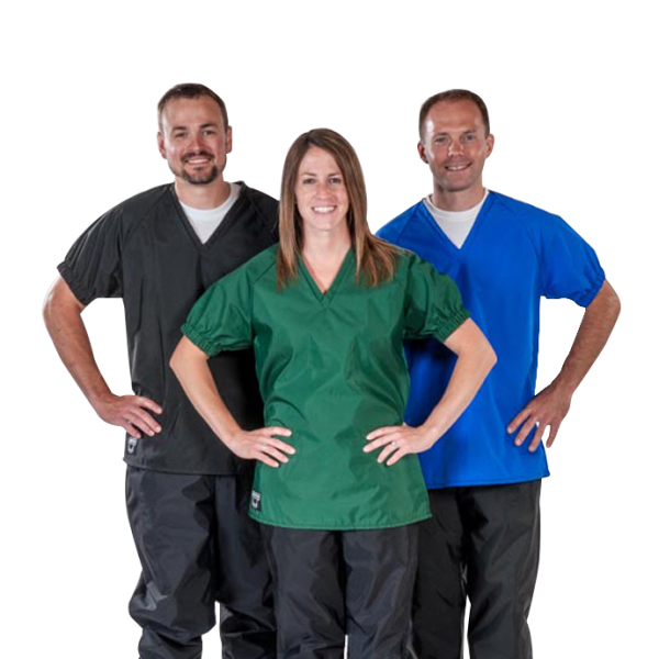 Waterproof Scrubs Vet/Farm 3 colors w/ Bibbed Pant style or pull-on