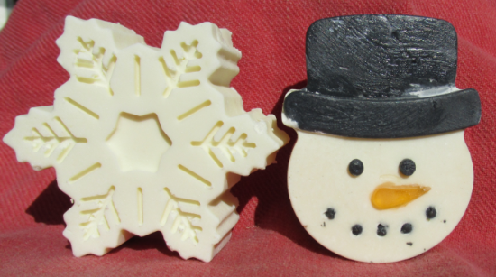 Snowflake or Snowman soap