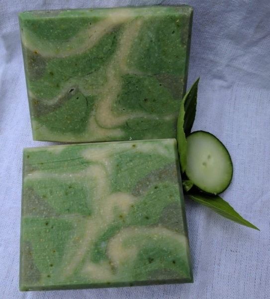 Basil Cucumber Honey Soap