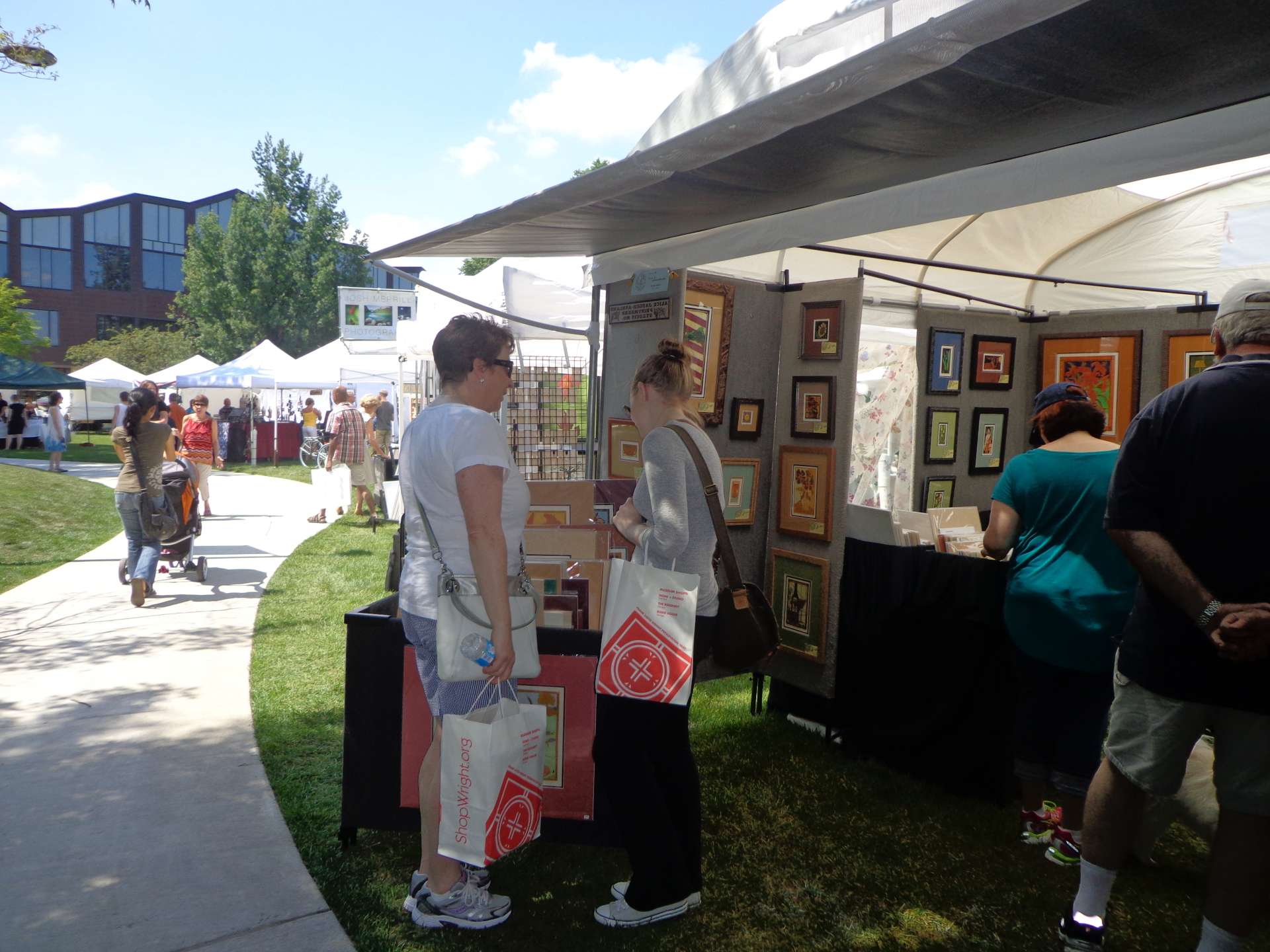 Patrons shopping the show