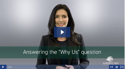 "Answering the ""Why Us?"" Question"