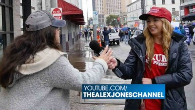 Angry Food Thrower Moons 'March 4 Trump' Passers-By