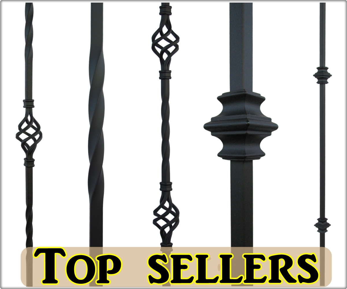 Black iron balusters