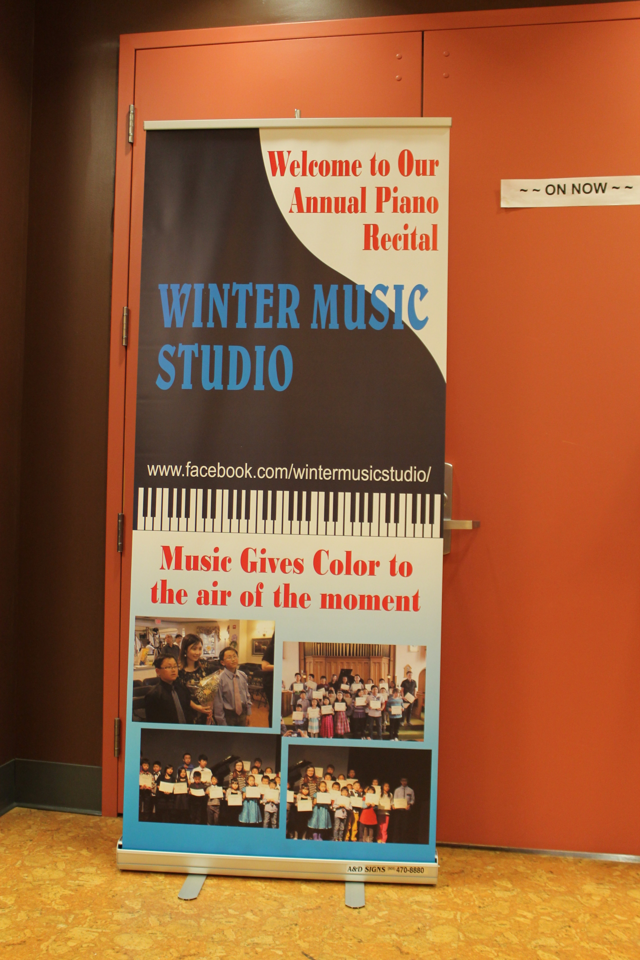 Winter Music Studio Poster
