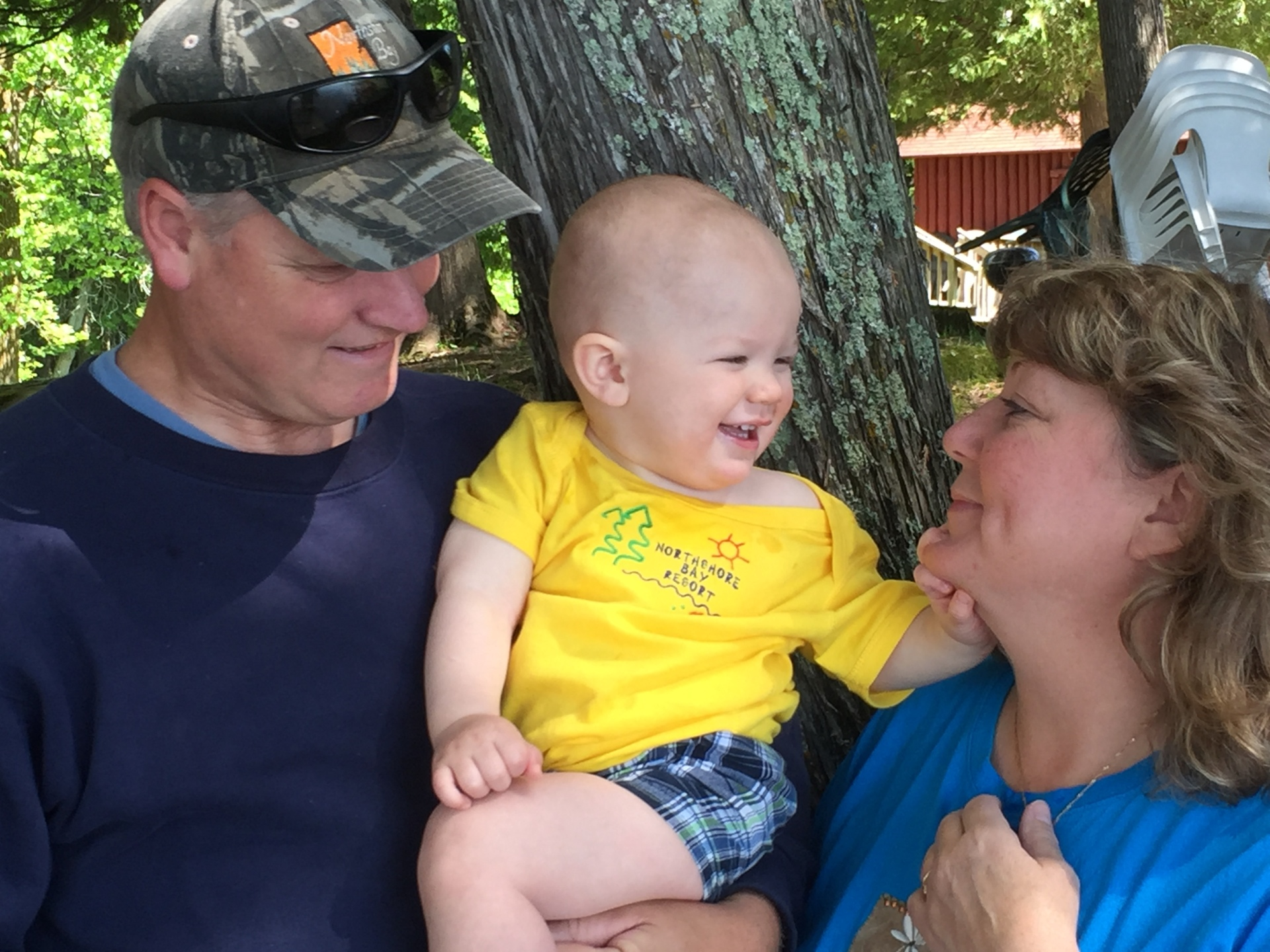 Greg & Mary with Grandson #2