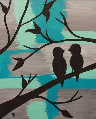 Blue Birds Silhouette