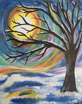 Winter Snowy Tree