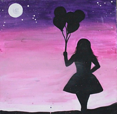 Girl with her Balloons