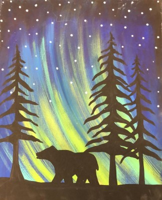 Northern Lights Bear