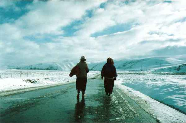 Two woman in snowland