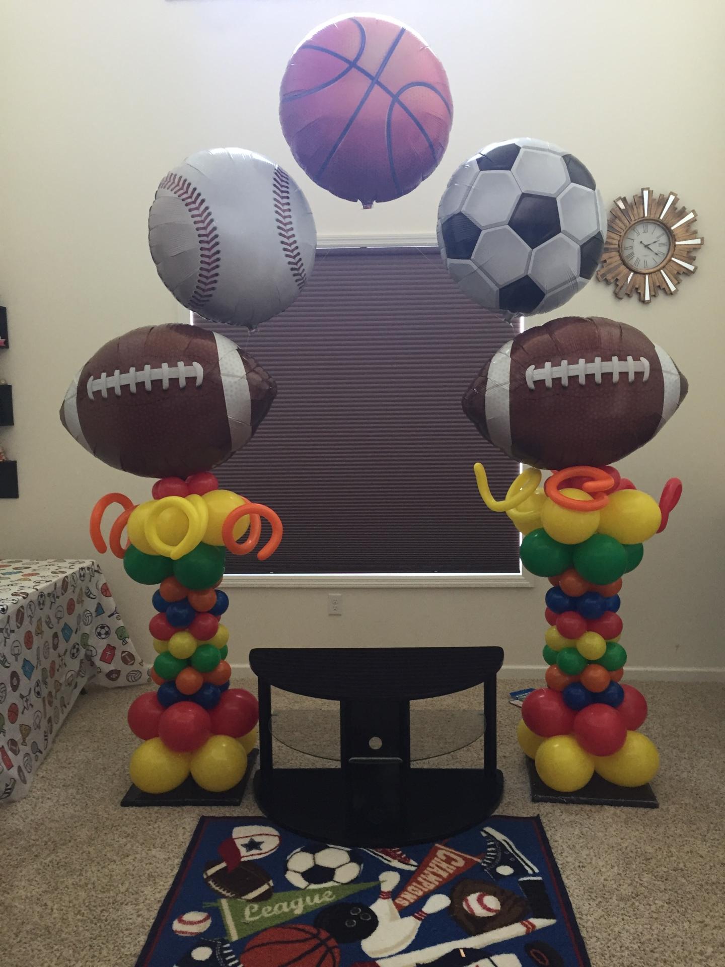Sports Ball Theme Arch