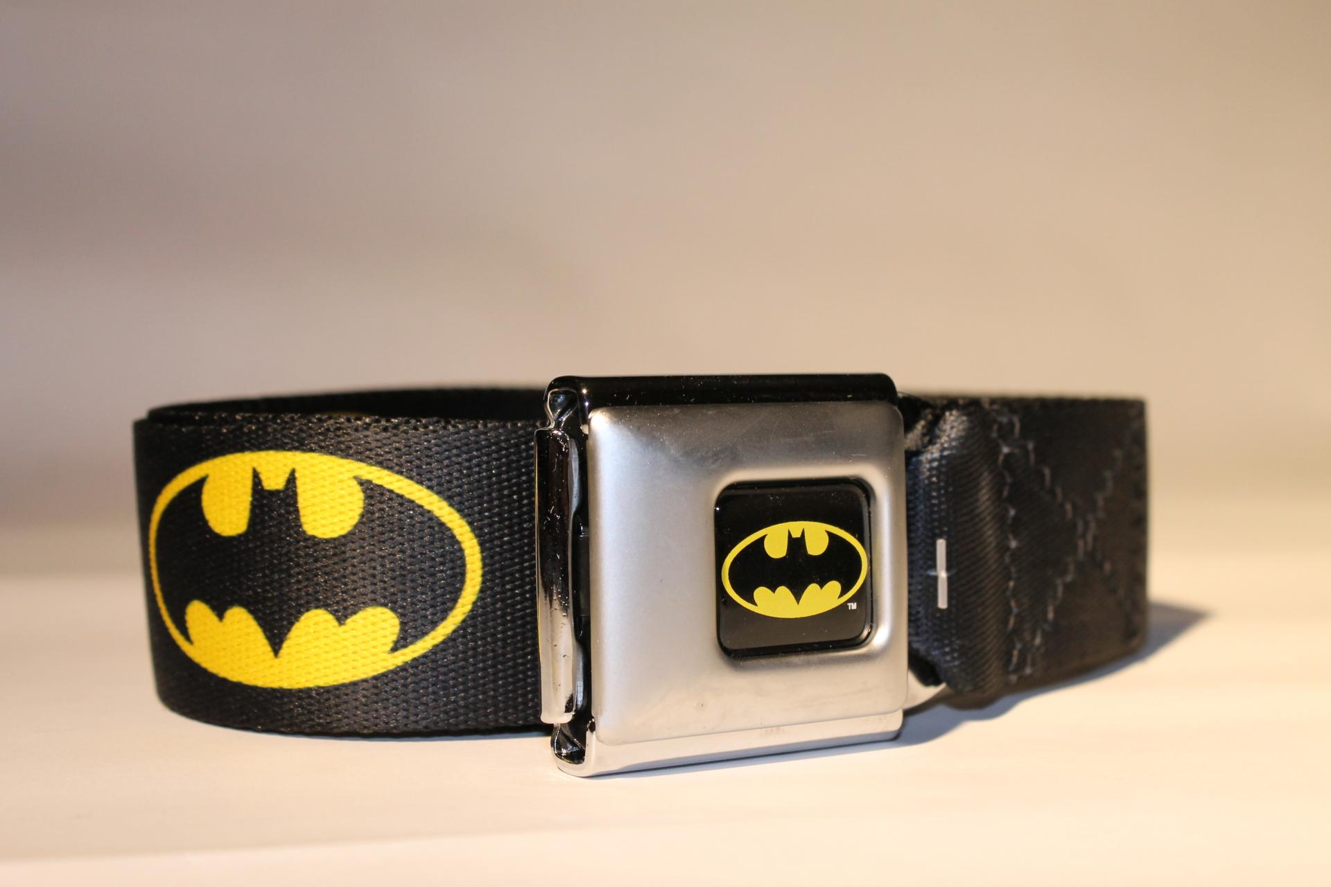 Batman Logo Seatbelt Belt