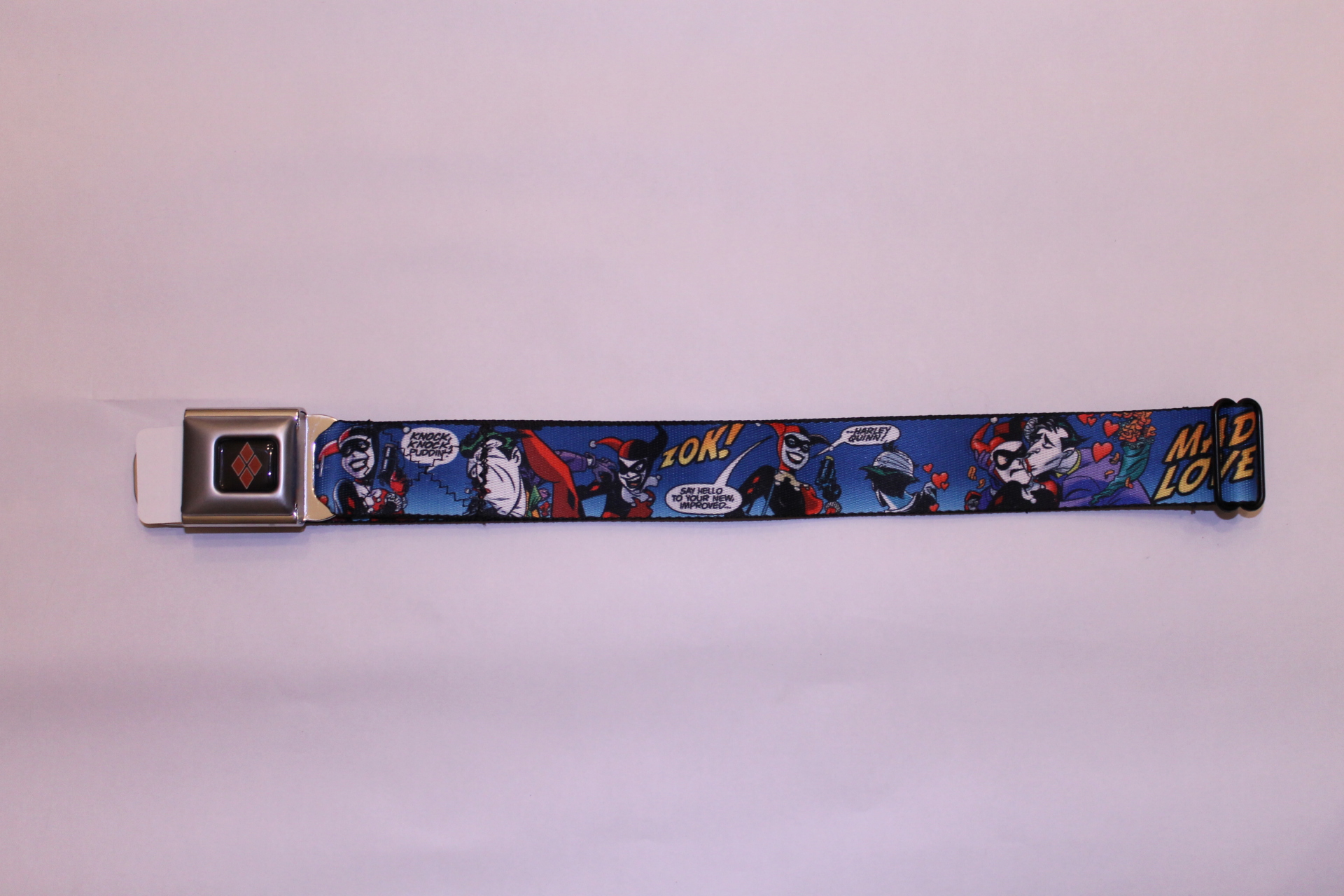 The Joker & Harley Mad Love  Seatbelt Belt