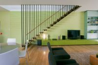 Gray Smith Architecture Baines Keating Residence suspended stair and feature wall