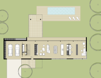 Gray Smith Architecture Pindimar house proposed ground floor plan modern minimalist design