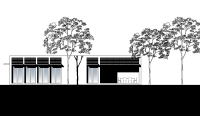Gray Smith Architect proposed luxury residence in Brighton garden elevation design