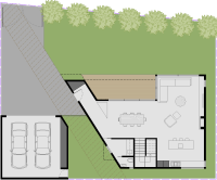 Gray Smith Architect new house proposed for land in Castlemaine ground floor plan