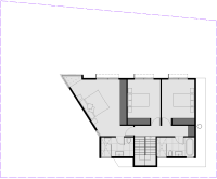 Gray Smith Architect new house proposed for land in Castlemaine first floor plan