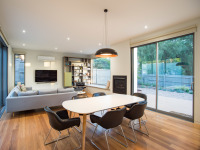 Gray Smith Architect Castlemaine house dining and living rooms modern design
