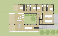 Gray Smith Architecture Leigh residence new split level house design with internal courtyard floor plan