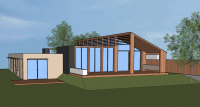 Gray Smith Architecture Leigh residence new house design rear elevation