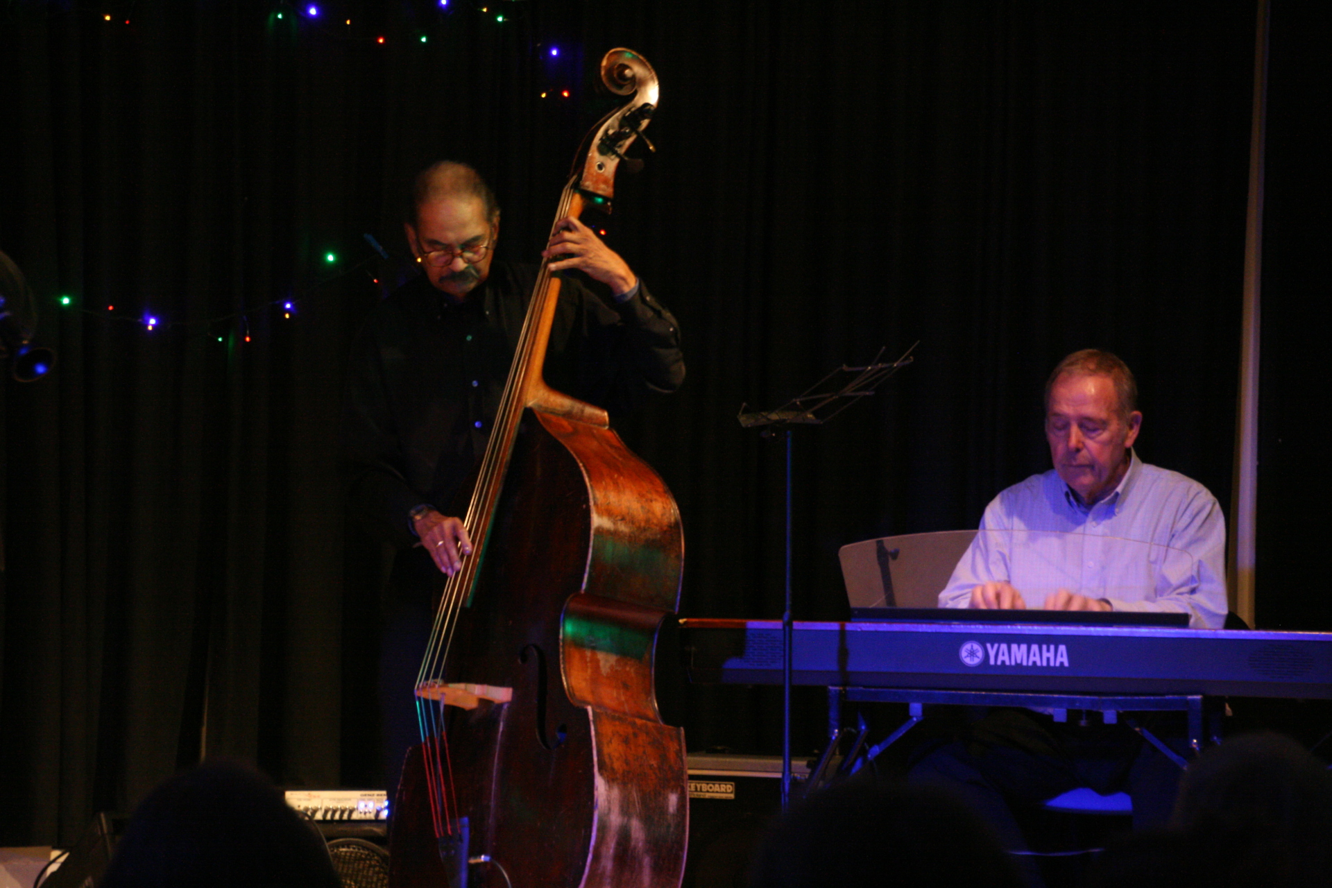 Val Mannix with Ted Beament at Robertsbridge Jazz Club