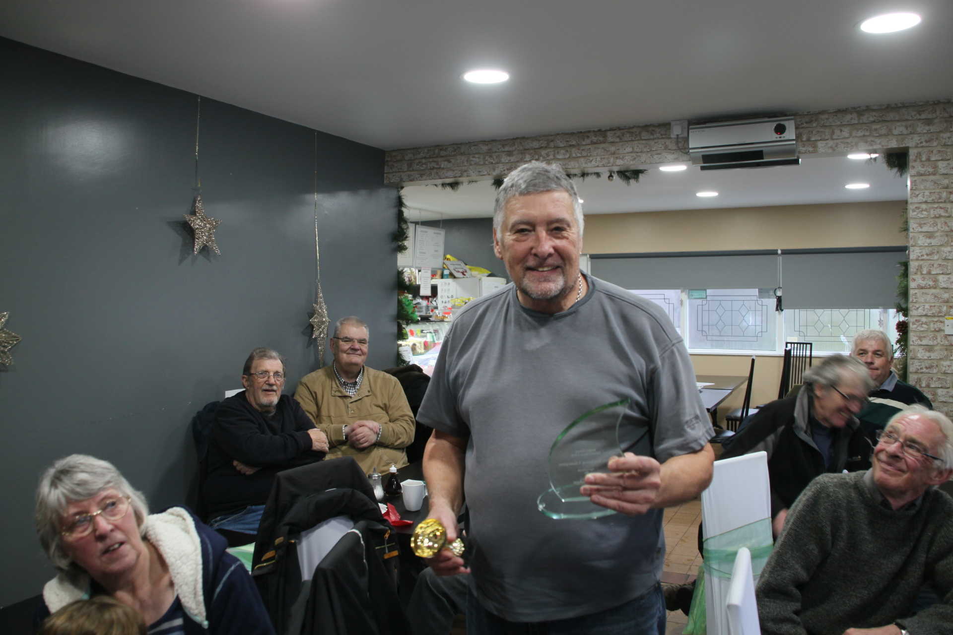 The overall winner Ray Baskerville