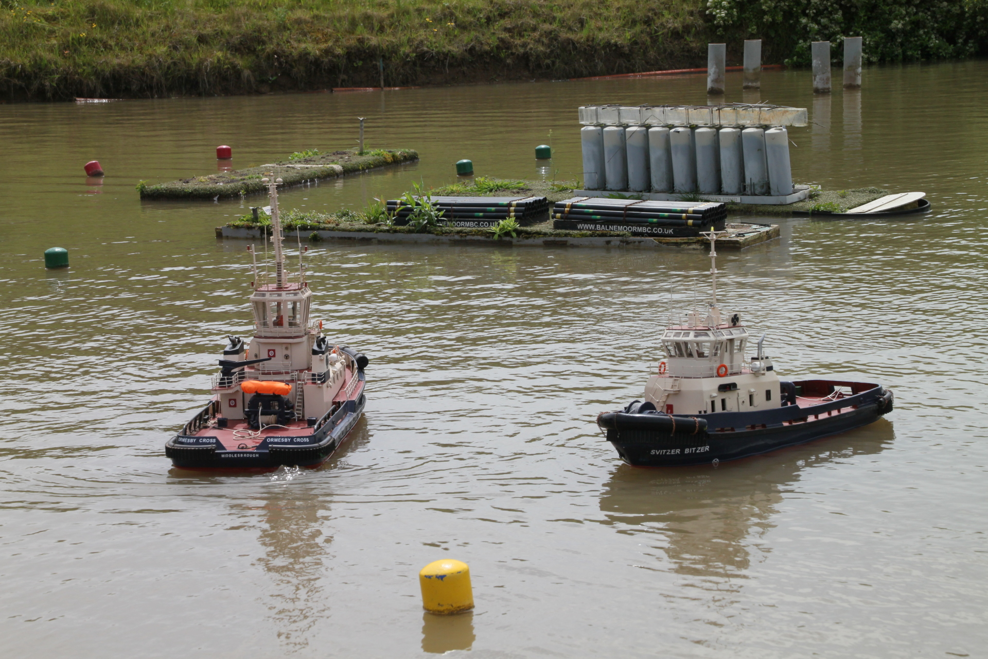 Two Svitzer tugs out to play