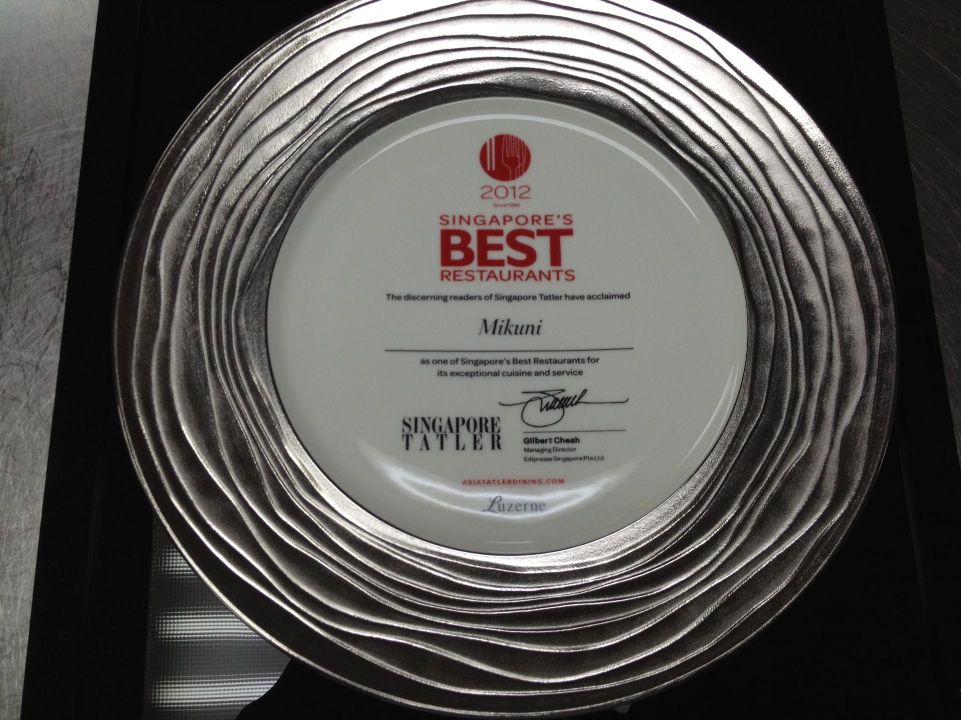 Best Restaurant 2012