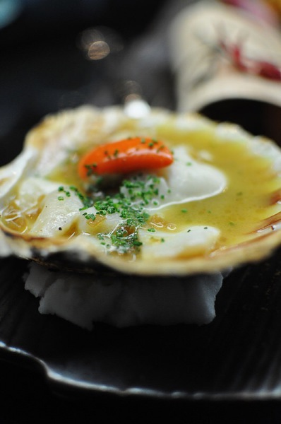 Scallop with Onion Sauce