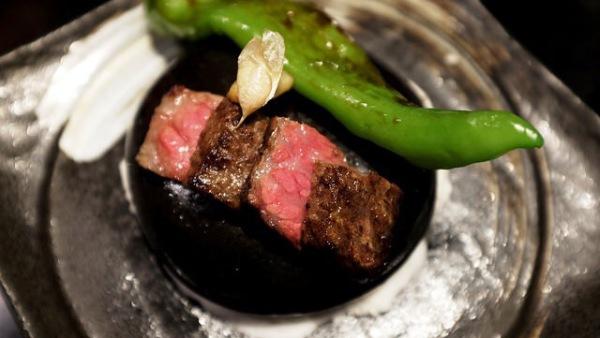 Kyoto Mangangi Green chilli with Miyazaki Beef