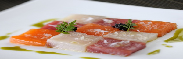 Sashimi with Wasabi Oil