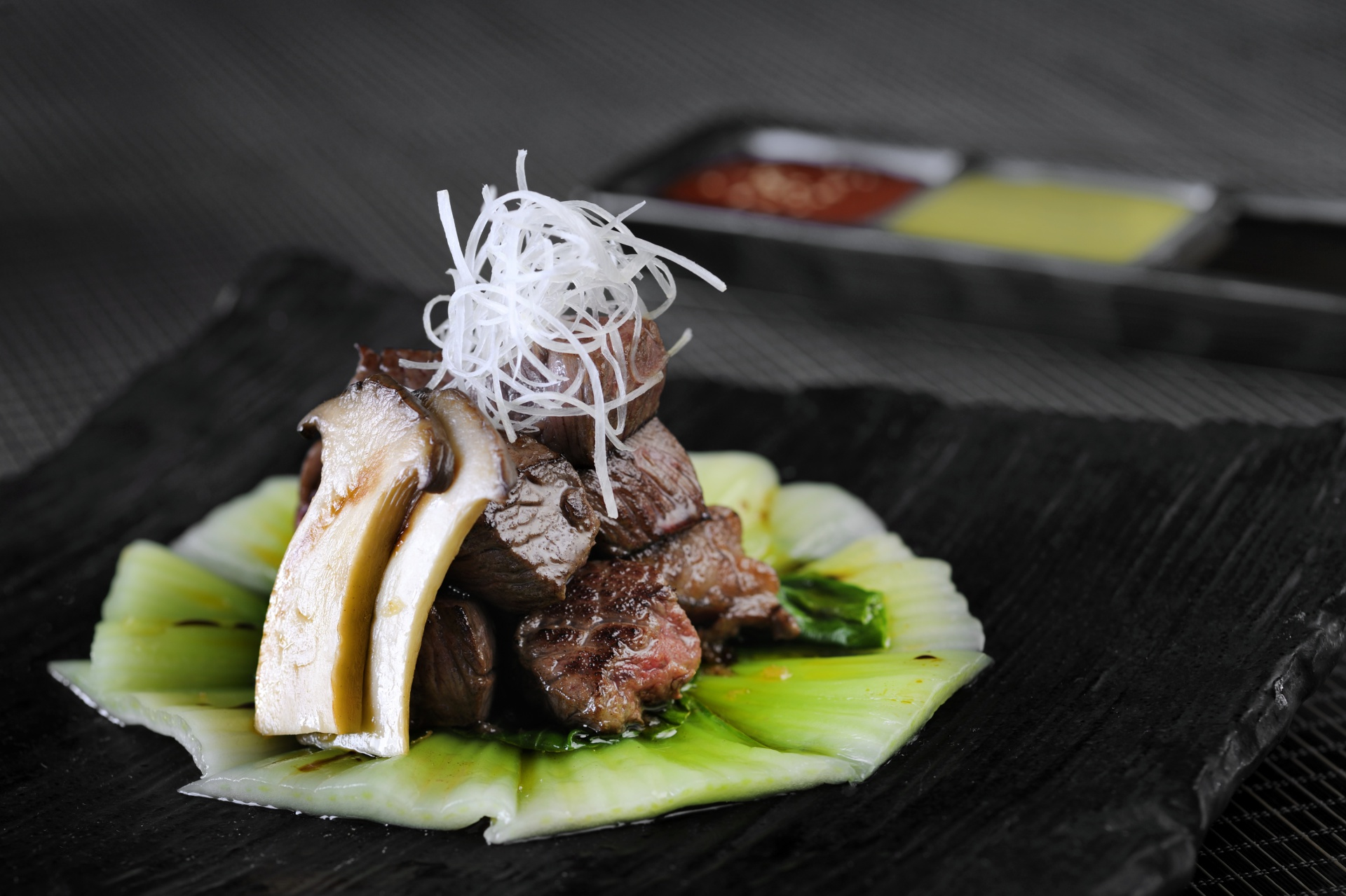 Teppanyaki style of Beef