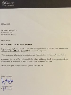 Leader of the Month @ Fairmont Hotel