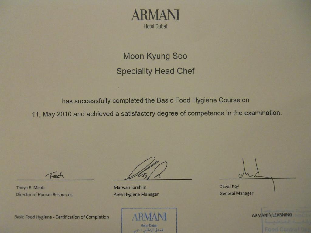 Leader of the Quarter Armani Hotel
