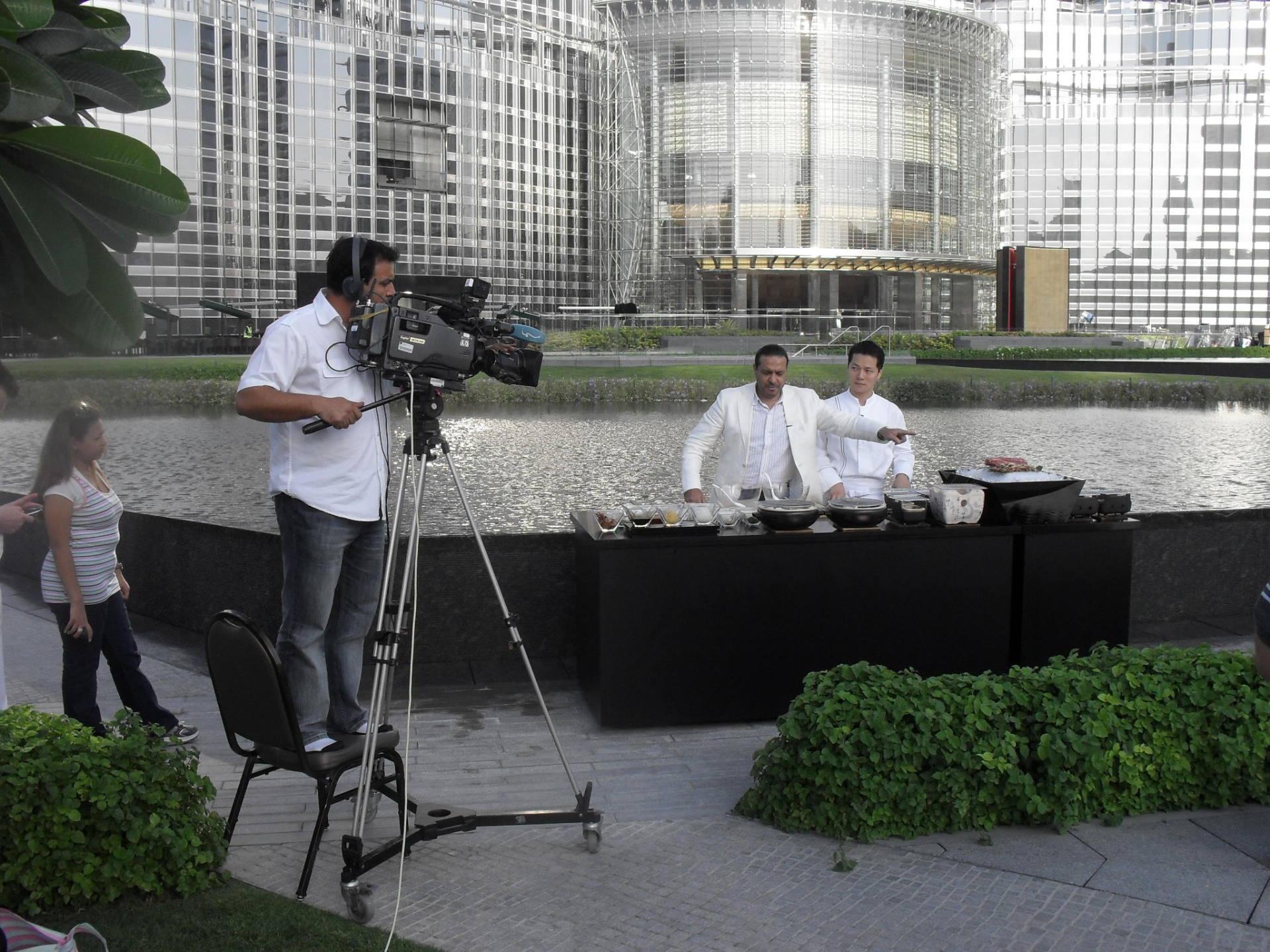 Dubai TV @ Armani Hotel Dubai