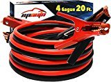EPAuto 4 Gauge x 20 Ft 500A Heavy Duty Booster Jumper Cables