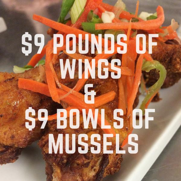 wings, mussels, pub food, Monday, specials, gastropub, local seafood, supper, St. John's, Bernard Stanley, deals, cheap food, restaurant, pub