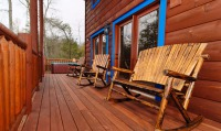 Gatlinburg cabin Outdoor deck with rockers