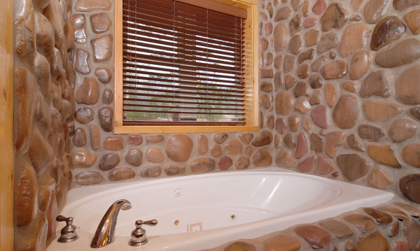 Downstairs baths with separate jetted tubs