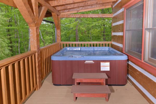 hot tub, log cabin