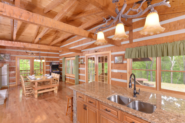 Appalachian Escape Cabin Fully equipped kitchen