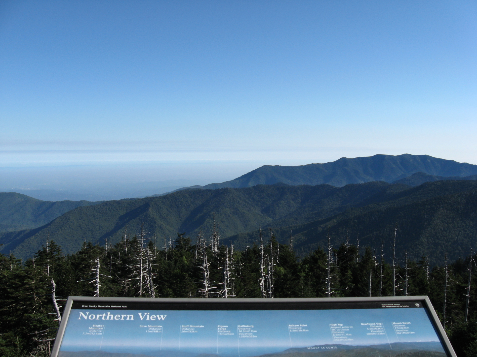 blue mountain cabins best time to see clingmans dome