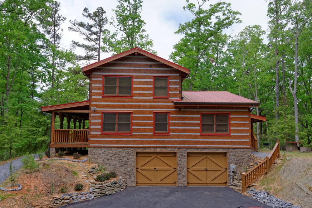 Appalachian style modern log cabin
