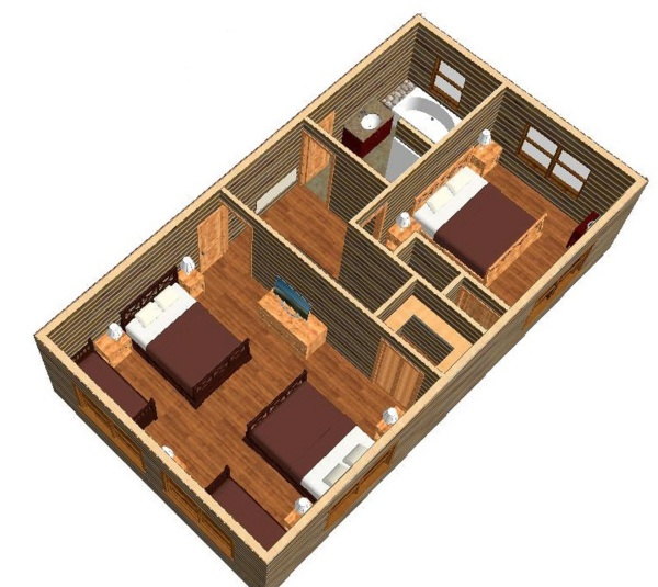 2nd Floor plan - see exactly what you are renting