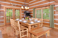 Appalachian Escape cabin dining room